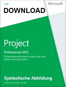 MICROSOFT MS Project 2013 Professional deutsch Vollversion (Download) AAA-01966